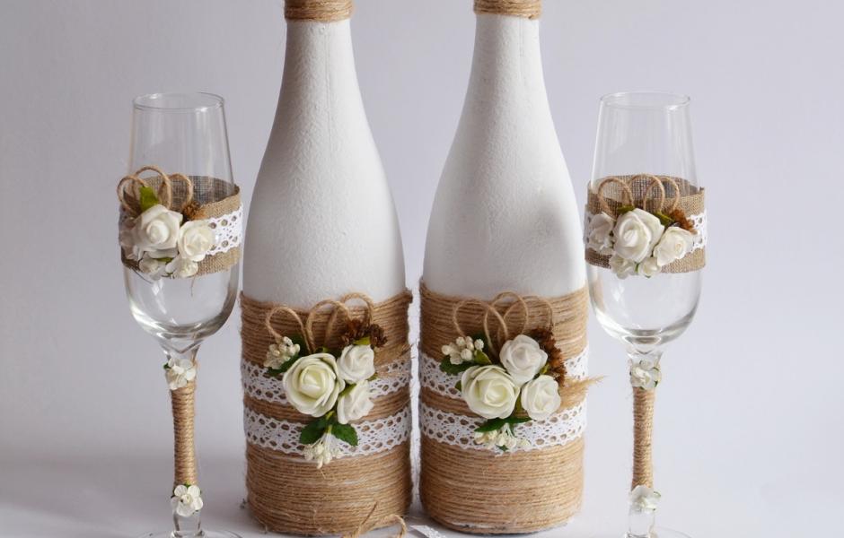 Свадебный набор ручной работы в стиле Рустик